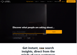 Answer Keyword Research Tool